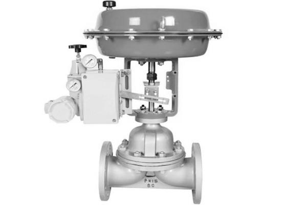 Rubber lined control diaphragm valve